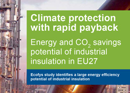 Climate Protection with Rapid Payback: Energy and CO2 savings potential of industrial insulation in EU